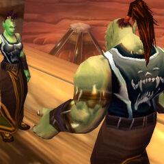 Большинство орков из клана Песни Войны носят накидки клана.