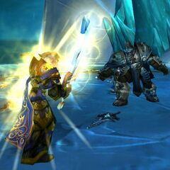 Frostmourne is shattered by Ashbringer.