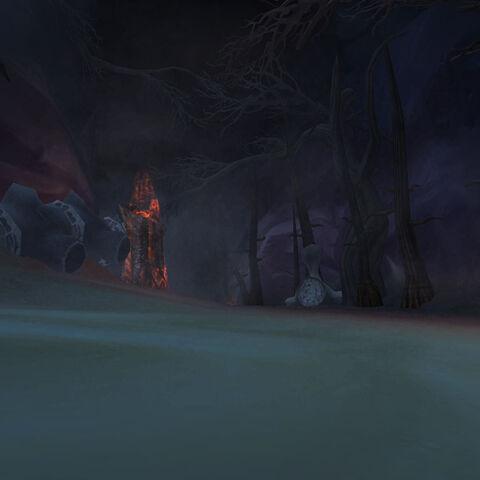 Туннель в Пещерах Времени ведущий к порталу.