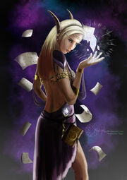 High elf arcane mage by smaragdia-d34x7e6