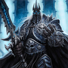 The Lich King in the Halls of Reflection (by Glenn Rane).