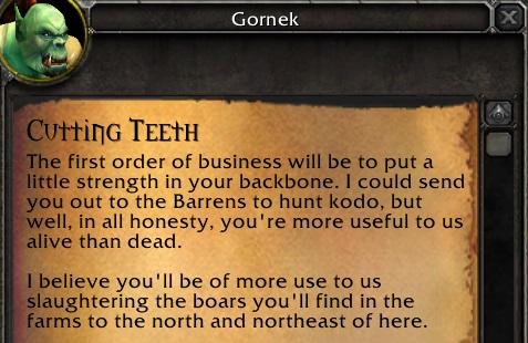 Cutting teeth 1