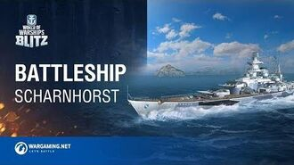 World of Warships Blitz Battleship Scharnhorst