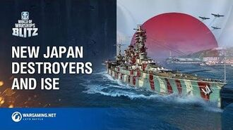 New Japanese Destroyers and Ise
