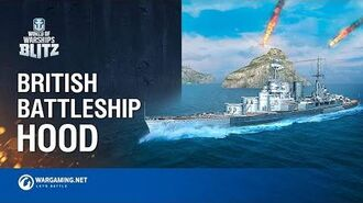 World of Warships Blitz British Battleship Hood