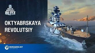 World of Warships Blitz Battleship Oktyabrskaya Revolutsiya