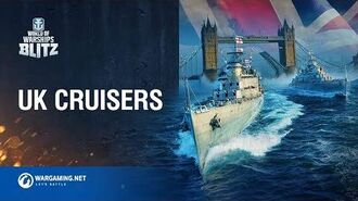World of Warships Blitz British Cruisers