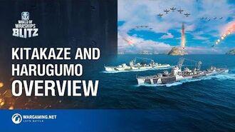 World of Warships Blitz Kitakaze and Harugumo