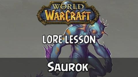 World of Warcraft lore lesson 70 Saurok