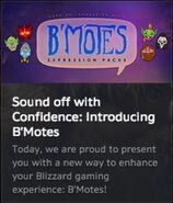 B'Motes in Bnet app