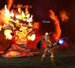 Persis defending Azeroth