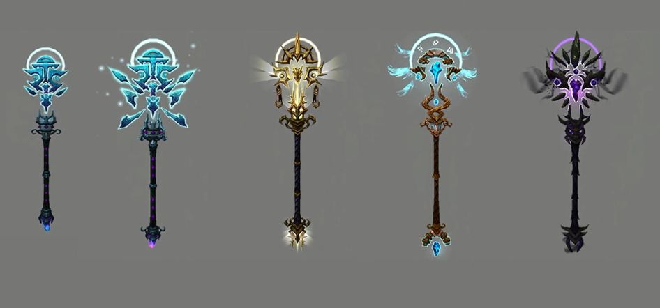 World Of Warcraft Weapon Concept Art