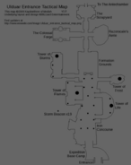 Ulduar entrance tactical map