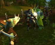High Elves Fighting