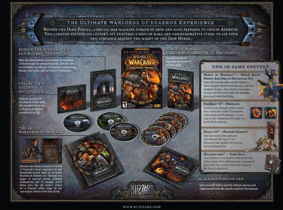 World Of Warcraft Warlords Of Draenor Collectors Edition Wowwiki