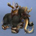 Black War Mammoth, Snow Background, NE Female Rider.png