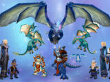 Blue dragonflight