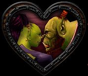 Orc Lovers Heart Valentines