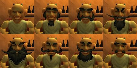 Gnome male facial hairstyles