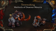 World of Warcraft WoD Timewalker mounts - Blizzcon 2018