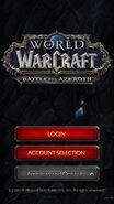 WoW Companion-login screen
