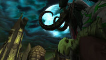 Illidan with skull with moon