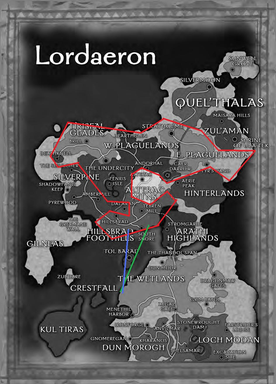Talkhasic wowwiki fandom powered by wikia same as above this time using a map made long after day of the dragon for the rpg and wow manual redline respresents borders of the kingdom gumiabroncs Choice Image