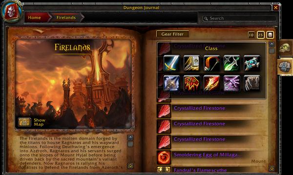 Dungeon Journal-Firelands-Loot-Gear Filter-4 2 0 14313