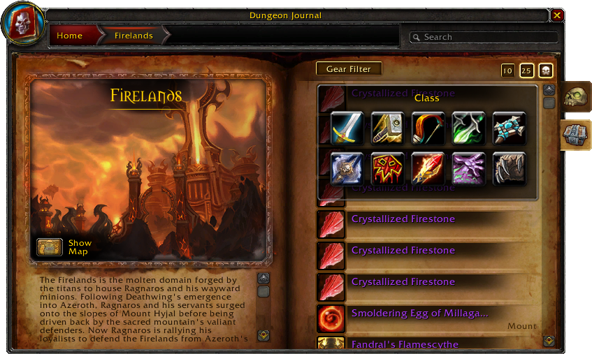 Dungeon Journal-Firelands-Loot-Gear Filter-4 2 0 14313