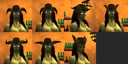 Draenei female horns
