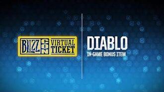 BlizzCon 2018 Virtual Ticket - Diablo In-Game Item Reveal