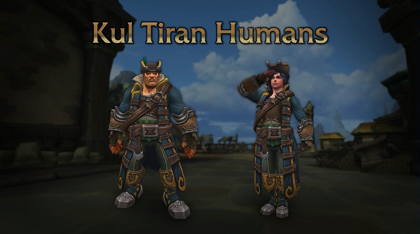 World of Warcraft Kul Tiras heritage armor - Blizzcon 2018