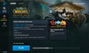 Battle.net app-Beta-WoW-background PTR-starting download