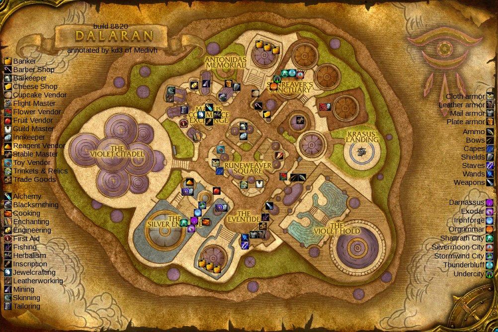 Image   Dalaran beta map. | WoWWiki | FANDOM powered by Wikia