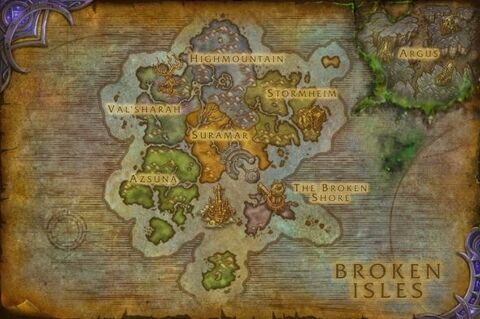 Patch 7-3 broken isles with argus map thumb