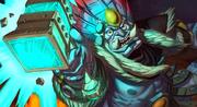 Dargrul taking the hammer