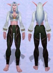 Leggings of the Ruins Dweller, Snow Background, NE Female