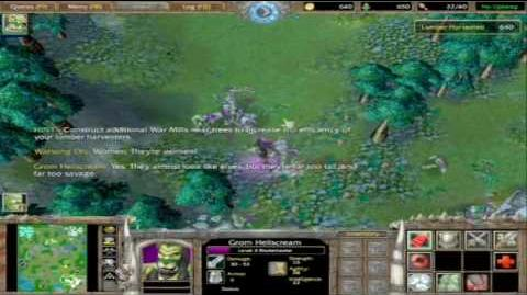 Warcraft 3 Reign of Chaos Orc campaign cinematics 3 6