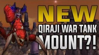 New Qiraji Battle Tank Mounts In 7.3.5?! In-game Preview