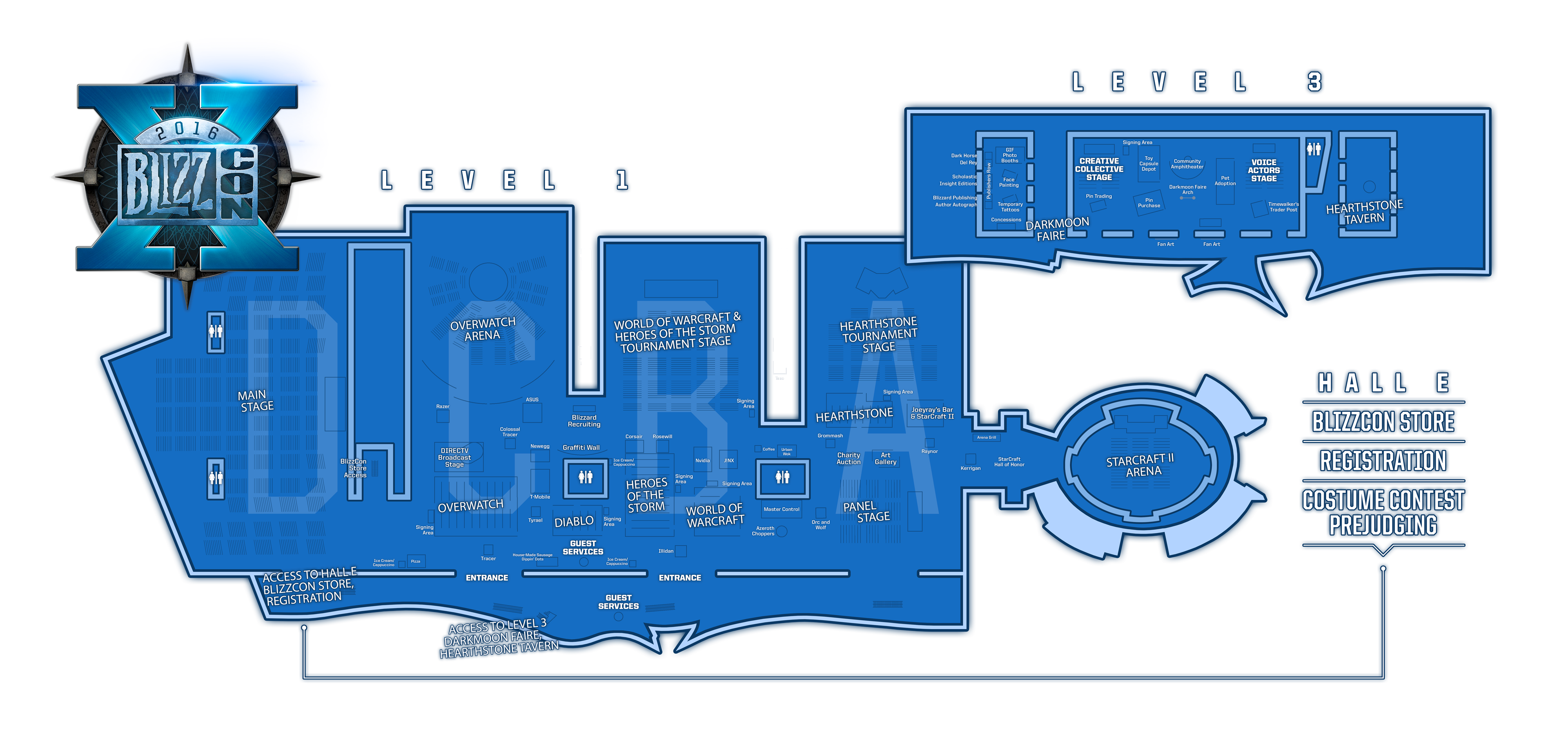 Blizzcon 2018 Floor Map Page 2