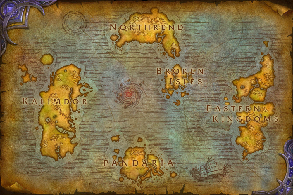 East Middle Earth Map%0A Azeroth  world