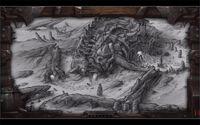 WoWInsider-BlizzCon2013-WoWArtPanel-Slide14-Giant skeleton