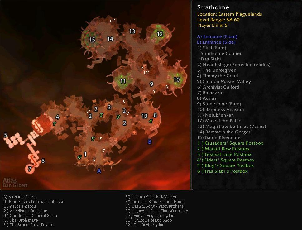 Strategic Map of Stratholme