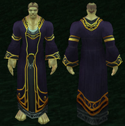 Imbued Netherweave Robe, Grass Background, Human Male