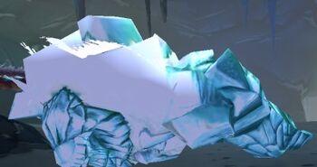 Ravaged Crystalline Ice Giant