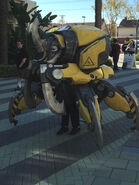 Mech Anubarak cosplay outside