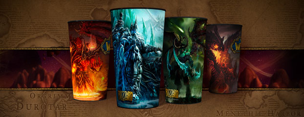 World of Warcraft Limited Edition Cups small clean