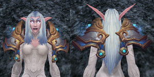 Velen's Shoulderpads of Conquest, Stone Background, NE Female