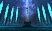 Frostmourne in the Halls of Reflection