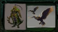 BlizzCon Legion - Azsuna Warden Warrior and owl concept art